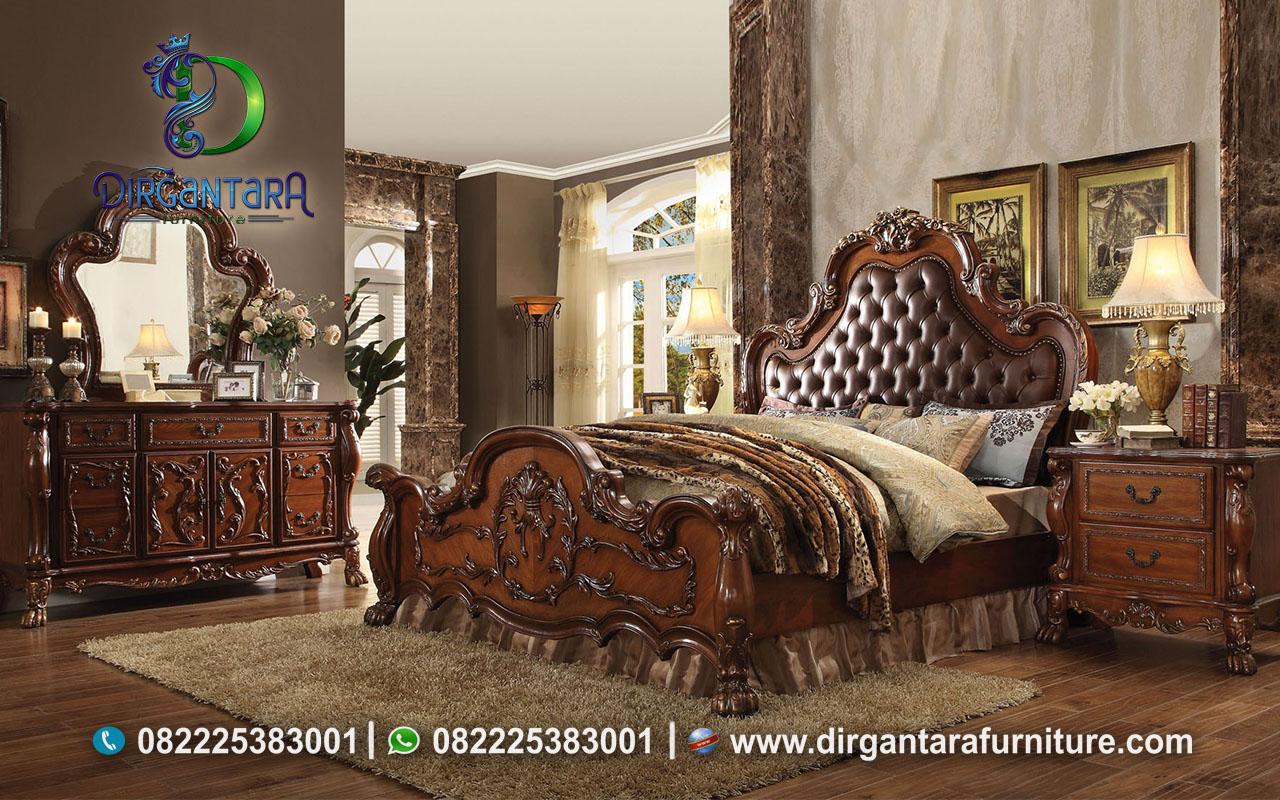 Jual Bed Set Natural Klasik KS-128, Dirgantara Furniture