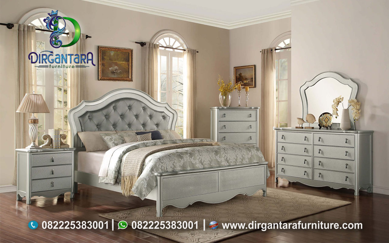 Desain Kamar Tidur Minimalis Warna Silver KS-66, Dirgantara Furniture