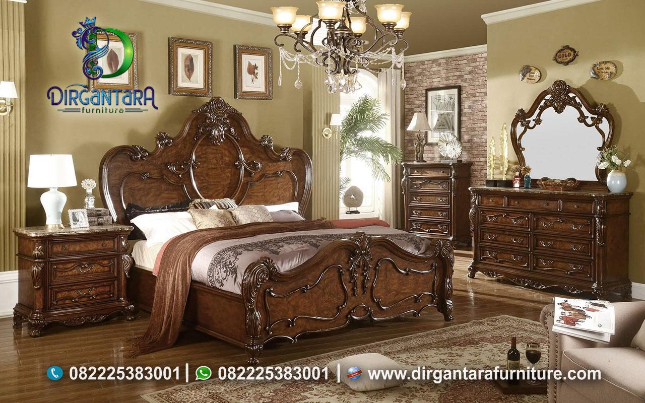 Jual Set Tempat Tidur Klasik Ukir Jepara KS-68, Dirgantara Furniture