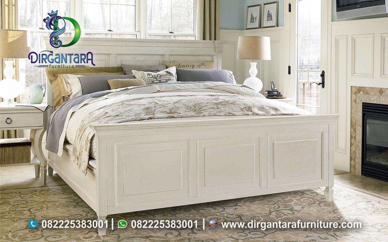 Jual Tempat Tidur Minimalis Duco Putih Kayu Mahoni KS-77, Dirgantara Furniture